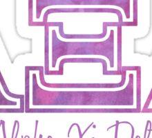 alpha xi delta purple  Sticker