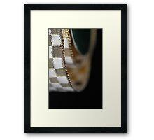 Metallic wrapping ribbon Framed Print