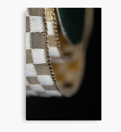 Metallic wrapping ribbon Canvas Print