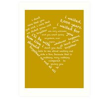 Quotes of the Heart - Amy/Rory (White) Art Print