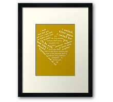 Quotes of the Heart - Amy/Rory (White) Framed Print
