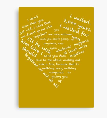 Quotes of the Heart - Amy/Rory (White) Canvas Print