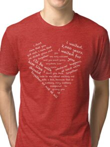 Quotes of the Heart - Amy/Rory (White) Tri-blend T-Shirt