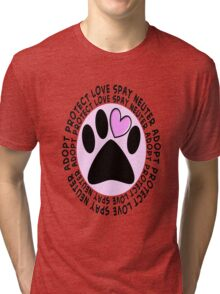 Animal Spay Neuter Adopt T-Shirt Tri-blend T-Shirt