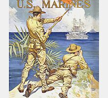 US Marines Poster - World War 1 by warishellstore
