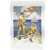 US Marines Poster - World War 1 Poster