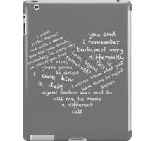 Quotes of the Heart - Clintasha (White) iPad Case/Skin