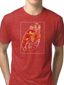 Man Red Yellow C Tri-blend T-Shirt