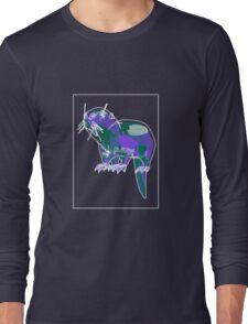 Otter Mauve Green E Long Sleeve T-Shirt