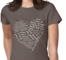 Quotes of the Heart - Janto (White) Womens Fitted T-Shirt