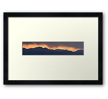 Stormy sunset Framed Print