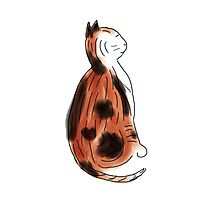 Calico Cat Watercolor Sketch Photographic Print