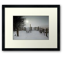 Misty Winter Walk Framed Print