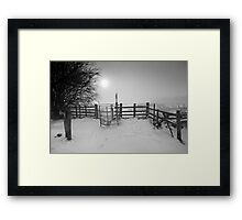 Misty Winter Walk BW Framed Print