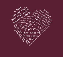Quotes of the Heart - Merthur (White) Womens Fitted T-Shirt