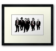 Reservoir Horror Icons Framed Print