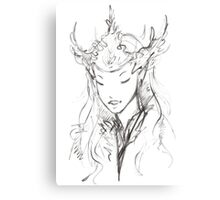 Fairy Queen Monochrome  Canvas Print
