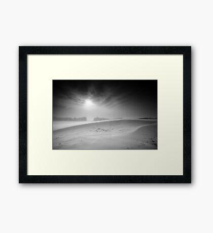 Cold Ridge BW Framed Print