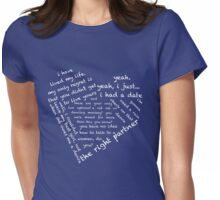 Quotes of the Heart - Steggy (Black) Womens Fitted T-Shirt