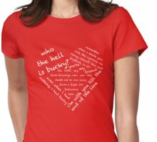 Quotes of the Heart - Stucky (White) Womens Fitted T-Shirt
