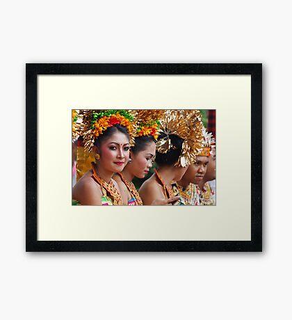 Balinese Girl Framed Print