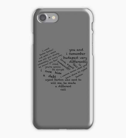 Quotes of the Heart - Clintasha (Black) iPhone Case/Skin