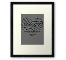 Quotes of the Heart - Clintasha (Black) Framed Print