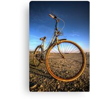 Someone Left The Bike Out In The Rain Canvas Print
