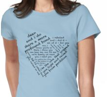 Quotes of the Heart - Destiel (Black) Womens Fitted T-Shirt