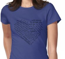 Quotes of the Heart - Doctor/Rose (Black) Womens Fitted T-Shirt