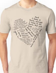 Quotes of the Heart - Janto (Black) Unisex T-Shirt