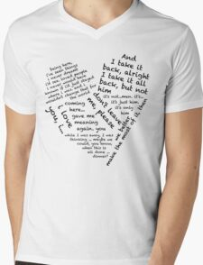 Quotes of the Heart - Janto (Black) Mens V-Neck T-Shirt