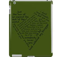 Quotes of the Heart - Johnlock (Black) iPad Case/Skin