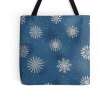 Snow Flakes Design Tote Bag