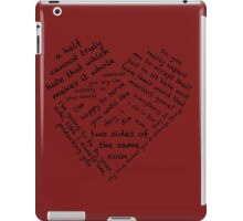 Quotes of the Heart - Merthur (Black) iPad Case/Skin