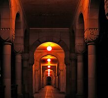 Beautiful corridor with classic arches by hereswendy