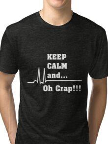 Funny Cardiac Nurse or Nurse Asystole Design Tri-blend T-Shirt