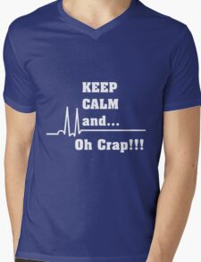 Funny Cardiac Nurse or Nurse Asystole Design Mens V-Neck T-Shirt
