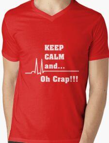 Funny Cardiac Nurse or Nurse Asystole Design Mens V-Neck T-Shirt