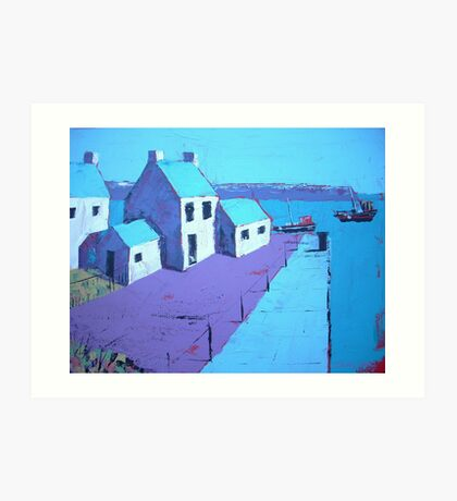 Little Harbour Acrylic Painting Art Print