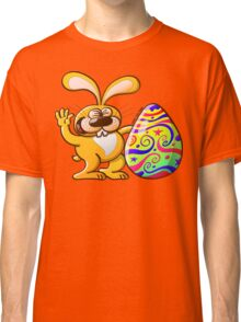 Easter Bunny Proud of his Big Decorated Egg Classic T-Shirt