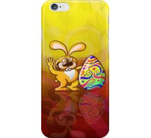 Easter Bunny Proud of his Big Decorated Egg iPhone Case/Skin