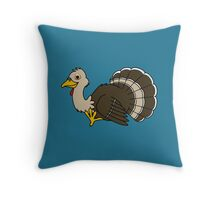 Thanksgiving Turkey with Light Brown Feathers Throw Pillow