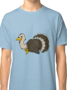 Thanksgiving Turkey with Light Brown Feathers Classic T-Shirt