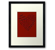 Quotes of the Heart - Stucky (Black) Framed Print