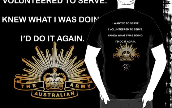 I served, I am Proud. for dark shirts by NemesisGear