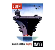 Join Navy -- Modern Mobile Mighty Photographic Print