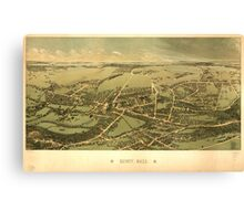 Panoramic Maps Quincy Mass Canvas Print