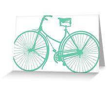 Teal bike Greeting Card