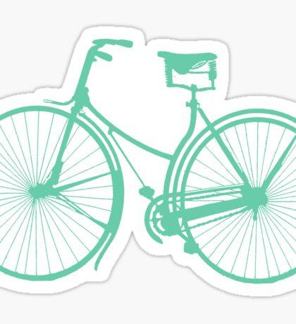 Teal bike Sticker